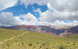 Cerro de siete colores, red color mountains Royalty Free Stock Image