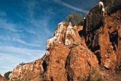 Cerro del Hierro, rocce ed albero fotografie stock