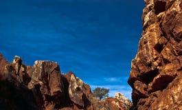 Cerro del Hierro,Rocks. View of the Cerro del Hierro, and old iron mine in Seville Royalty Free Stock Photo