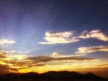 Cerro Del Muerto zmierzch Zdjęcie Royalty Free