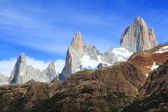 Cerro Fitz Roy - EL Chalten Fotografie Stock Libere da Diritti