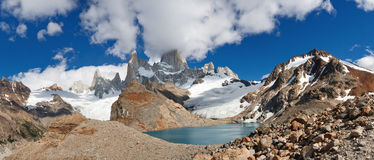 Cerro Fitz Roy & Laguna de los Tres, Patagonia Royalty Free Stock Photos