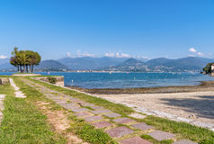 Cerro, is a fraction of Laveno Mombello on the shore of Lake Maggiore. Royalty Free Stock Photography