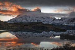 Cerro Paine Grande Stock Afbeelding