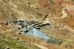 Cerro Rico, Bolivia. Mining on the famous mountain Cerro Rico, near Potosi, Bolivia Stock Photo