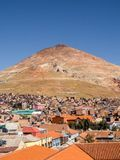 Cerro Rico mountais in Potosi, Bolivië royalty-vrije stock afbeelding