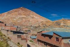 Cerro Rico Rich Mountain in Potosi royalty-vrije stock fotografie