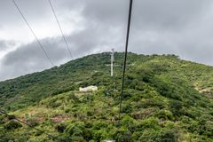 Cerro San Bernardo Hill Cable Car - Salta, Argentina arkivfoto