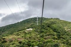 Cerro San Bernardo Hill Cable Car - Salta, la Argentina foto de archivo