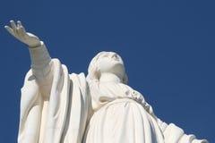 Cerro San Cristobal. Statue of Virgin Mary, Cerro San Cristobal, Santiago de Chile royalty free stock photo