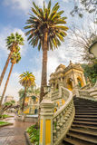 Cerro Santa Lucia in Downtown Santiago, Chile. Vintage Cerro Santa Lucia in Downtown Santiago, Chile Royalty Free Stock Image