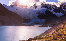 Cerro Torre. In Argentina royalty free stock image