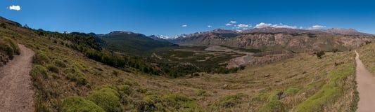 Chemin de trekking près d'EL Chalten Photographie stock libre de droits