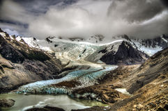Cerro Torre glaciär, Patagonia Royaltyfri Fotografi