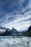Cerro Torre. And Glacier Grande in Los Glaciares National Park (Patagonia), Argentina Stock Photos