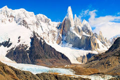 Cerro Torre im Patagonia, Argentinien. Lizenzfreies Stockbild