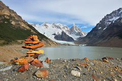 Cerro Torre and Laguna Torre at sunrise Royalty Free Stock Photography