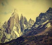 Cerro Torre Mountain in Los Glaciares National Park, Patagonia. Royalty Free Stock Photo