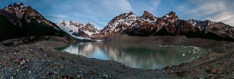 Cerro Torre od Laguna panoramy Zdjęcia Royalty Free