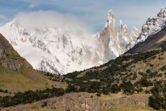 Cerro Torre peaks in Los Glaciares National Park Royalty Free Stock Photo