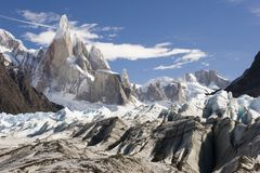Cerro-Torre's glacier stock photos