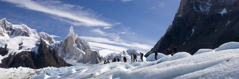 Cerro-Torre's glacier stock photography