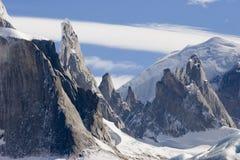 Cerro-Torre's peaks Stock Images