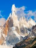 Cerro Torre summit. Famous Cerro Torre in Los Glaciares National Park, Patagonia, Argentina, South America stock photo