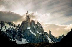 Cerro Torre. In Torres del Paine stock images