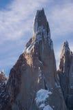 Cerro Torre très étroit Photographie stock libre de droits