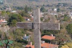 Cerro via Crucis i Santa Rosa de Calamuchita royaltyfri fotografi