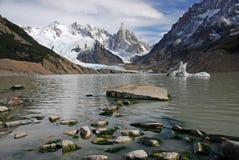 Cerro y lago Torre en Patagonia Fotografía de archivo libre de regalías