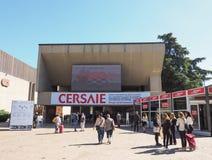 Cersaie (Międzynarodowa wystawa ceramicznej płytki i łazienki meblowania) w Bologna obrazy royalty free