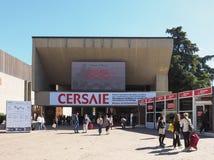 Cersaie (Międzynarodowa wystawa ceramicznej płytki i łazienki meblowania) w Bologna fotografia stock