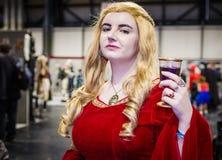Cersei Lannister från leken av biskopsstolar Royaltyfri Bild