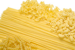 Certain Types of Raw Pastas Royalty Free Stock Images