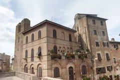 Certaldo (Florence). Old buildings of Certaldo (Florence, Tuscany, Italy royalty free stock photo