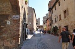 Certaldo in Toscanië Italië Royalty-vrije Stock Foto's