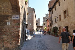 Certaldo w Tuscany Italy Zdjęcia Royalty Free