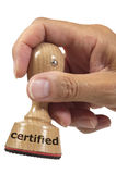 Certifié Image stock