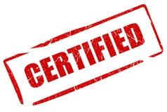 Certifié Image libre de droits