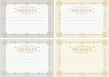 Certifica horizontal Imágenes de archivo libres de regalías
