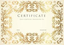Certificaat Stock Afbeelding