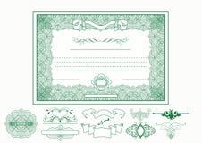 Certificaat of coupon voor ontwerp Stock Afbeelding