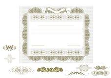 Certificaat of coupon voor ontwerp Royalty-vrije Stock Fotografie