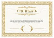 certificaat De muntgrens van het malplaatjediploma Royalty-vrije Stock Foto's