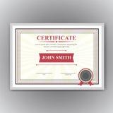 Certificaat, Diploma van voltooiing Royalty-vrije Stock Foto
