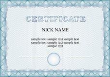 Certificaat, diploma voor af:drukken Royalty-vrije Stock Afbeelding