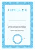 Certificaat en diploma'smalplaatje Vector Stock Afbeelding