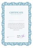 Certificaat en diploma'smalplaatje Vector Royalty-vrije Stock Foto